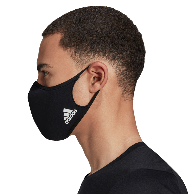 ADIDAS 3 PACK FACE COVER BLK