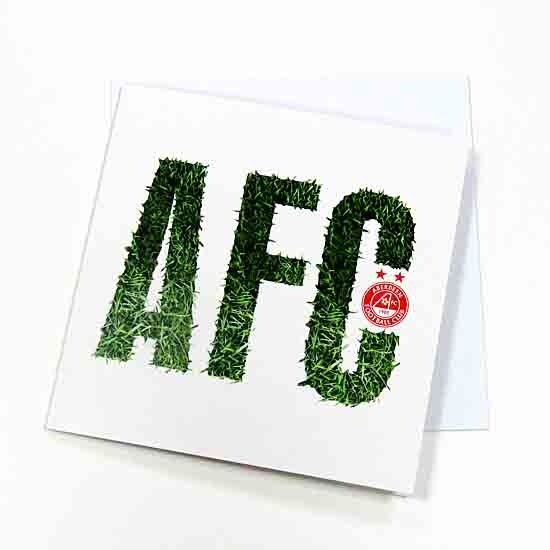 AFC GRASS CUTOUT GREETING CARD