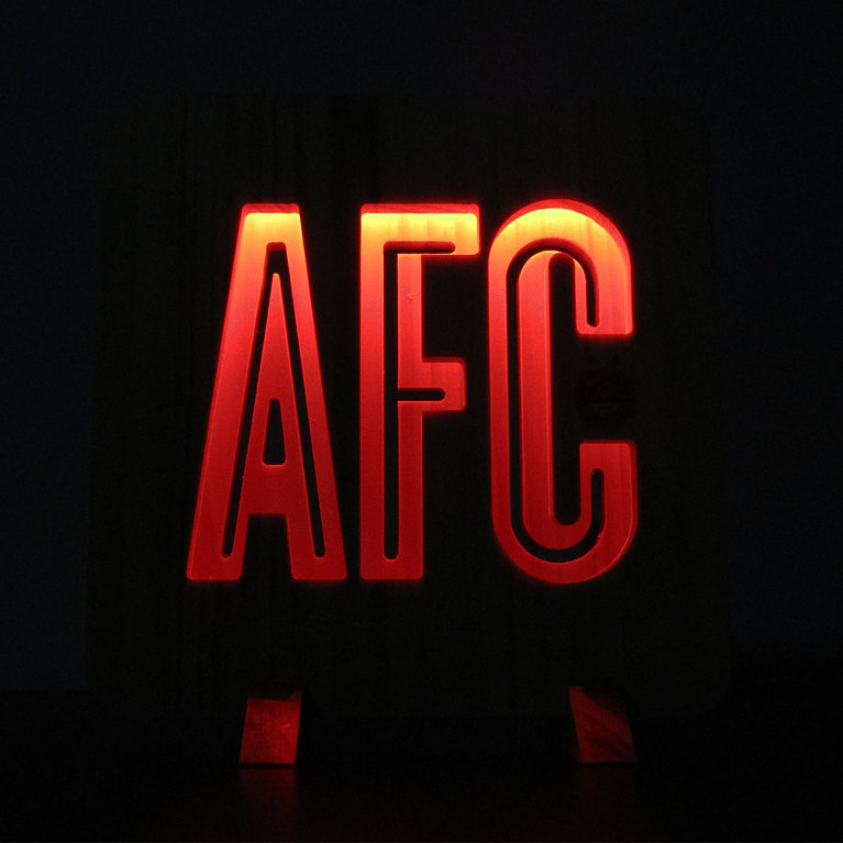 AFC WOODEN LIGHT RED