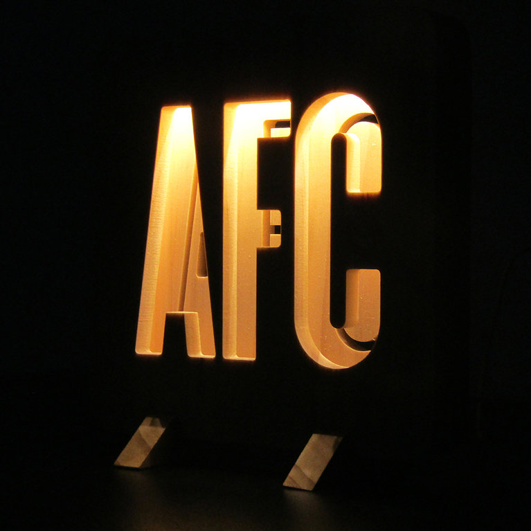 AFC WOODEN LIGHT WHITE