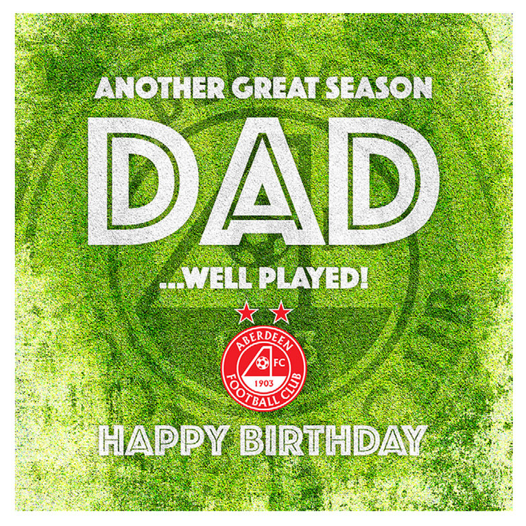ANOTHER GREAT SEASON DAD CARD