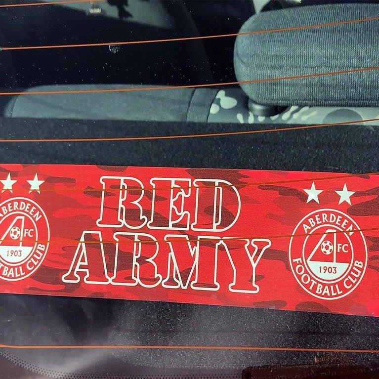 Dons Car Sticker Souvenirs Amp Gifts Aberdeen Fc