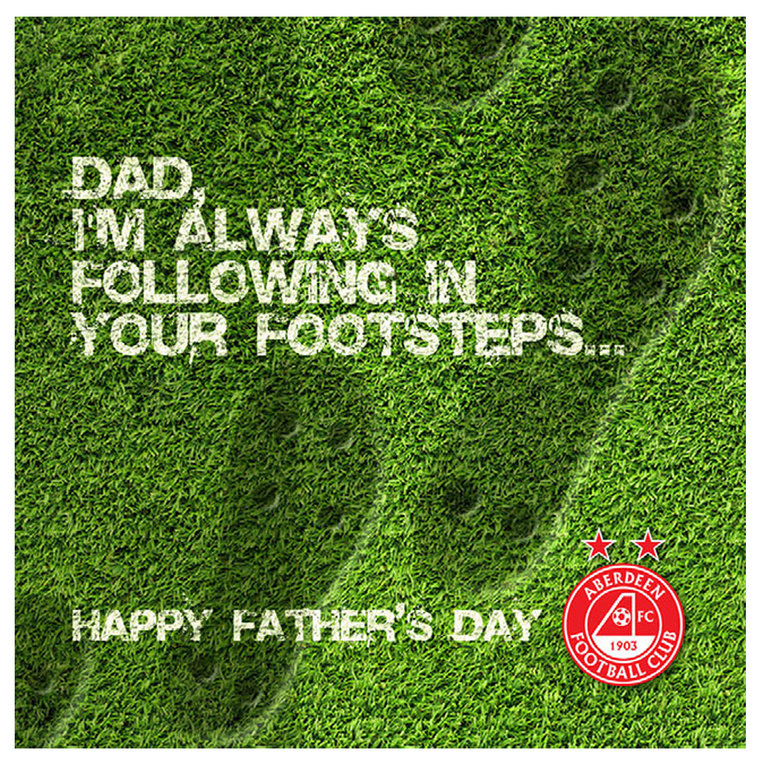 FATHERS DAY FOOTSTEPS CARD