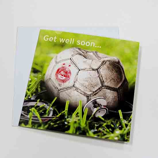 GET WELL SOON BALL CARD