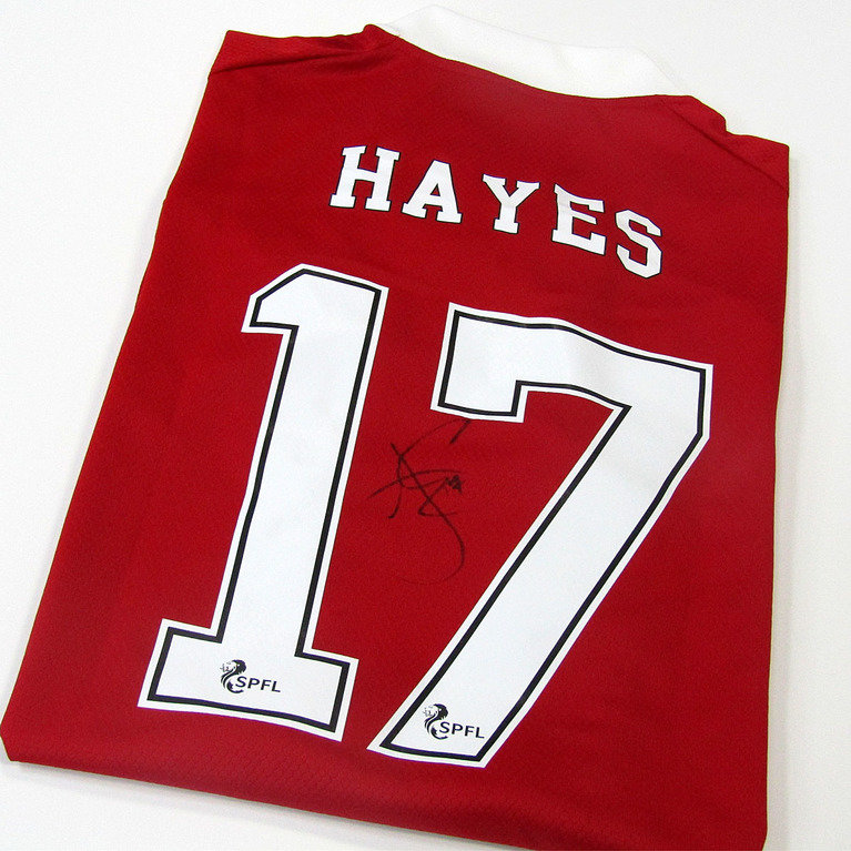 JONNY HAYES SIGNED HOME SHIRT