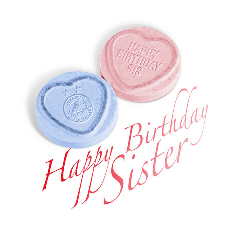 LOVE HEARTS SISTER BIRTHDAY