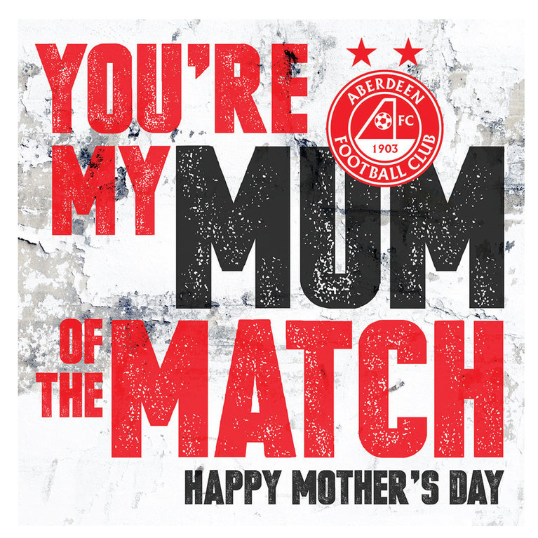 MUM OF THE MATCH CARD