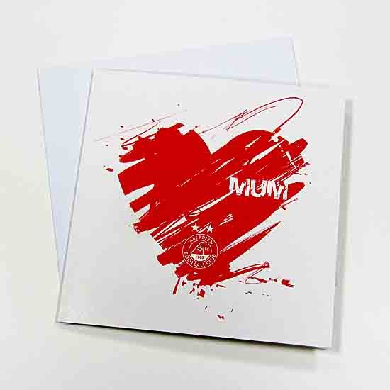 MUM SCRIBBLE HEART CARD