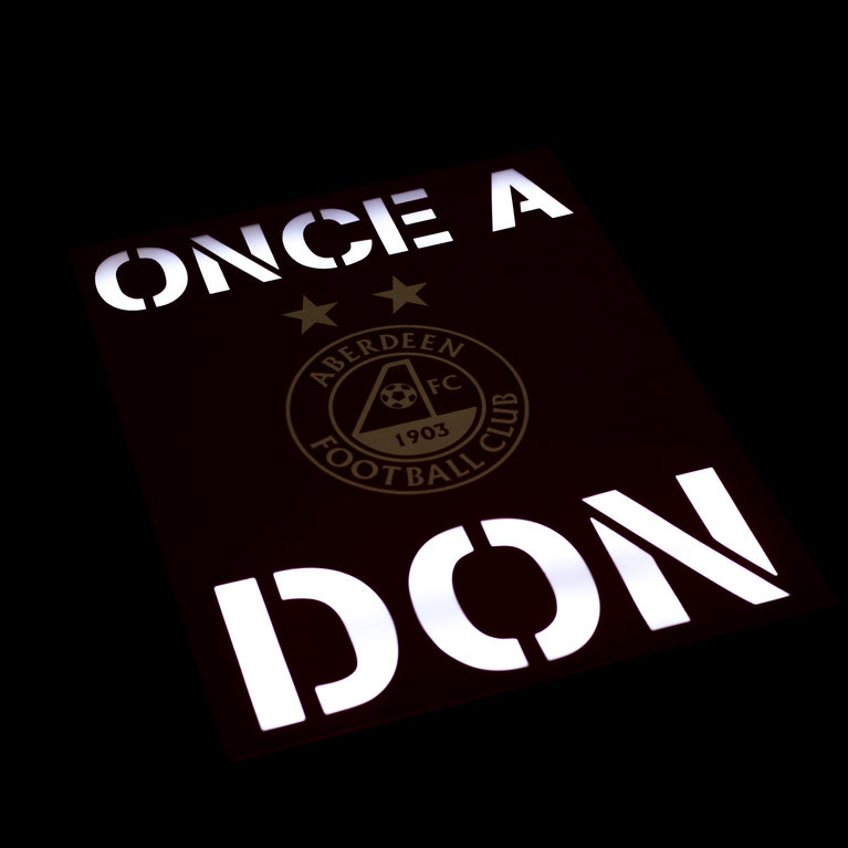 ONCE A DON LIT WALL ART