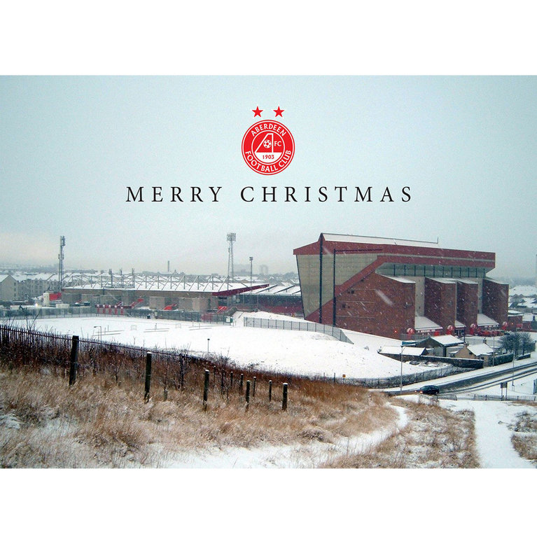 PITTODRIE MERRY CHRISTMAS CARD