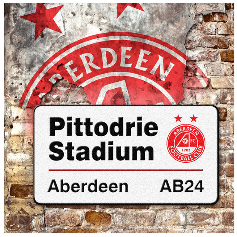 PITTODRIE SIGN GREETING CARD