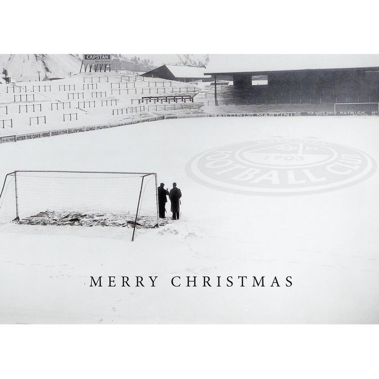 SNOW PITCH CHRISTMAS CARD
