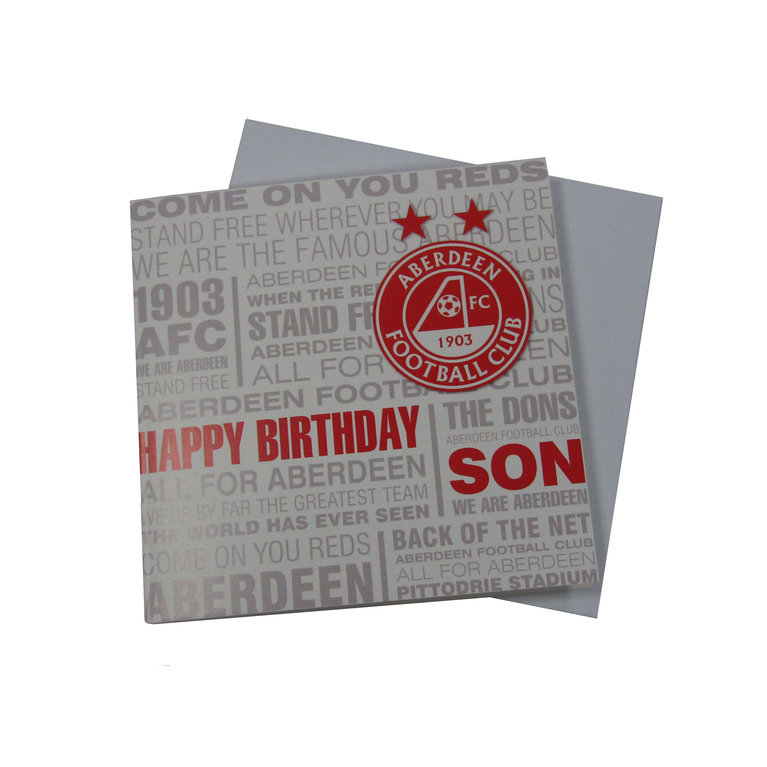 SON BIRTHDAY TEXT CARD