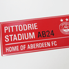PITTODRIE STREET SIGN RED Thumbnail